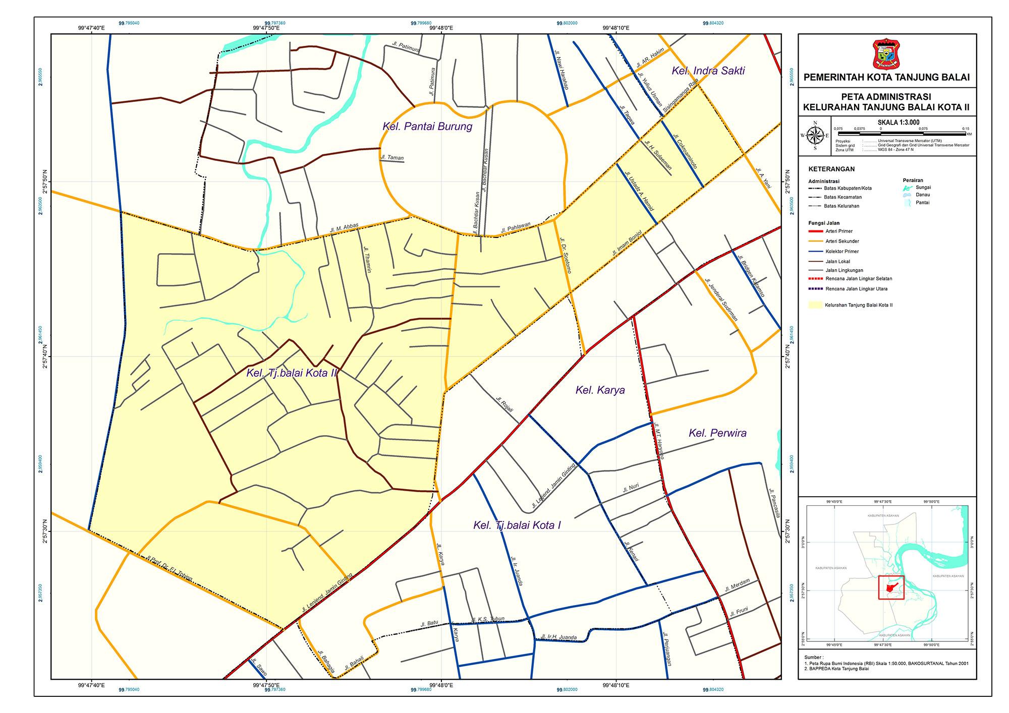 Peta Kelurahan - Kecamatan Tanjungbalai Selatan